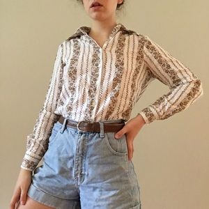 Western Style Floral Blouse
